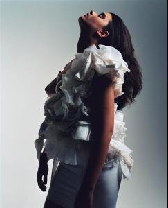 Кристал Ренн, фото 9. Crystal Renn French Vogue, foto 9